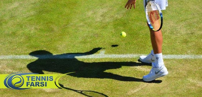 بازی روی چمن بازیکنان تنیس