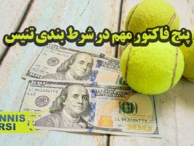 پنج فاکتور مهم در شرط بندی تنیس